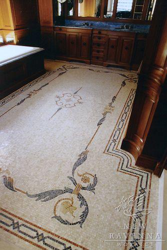 Apollo Neo Classical Stone Mosaic Stone Mosaic Stone Mosaic Floor Ravenna Mosaics
