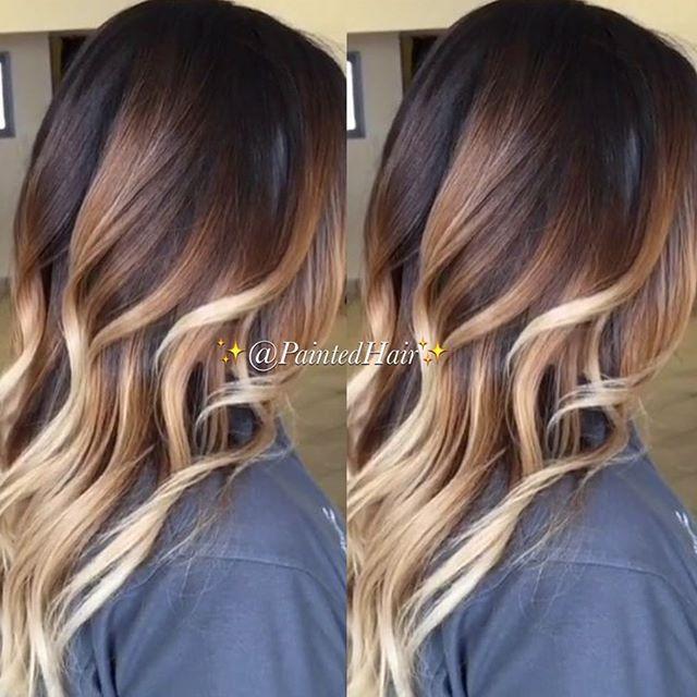 P Nikole Paintedhair Instagram Photos Websta Color Melting Hair Blonde Balayage