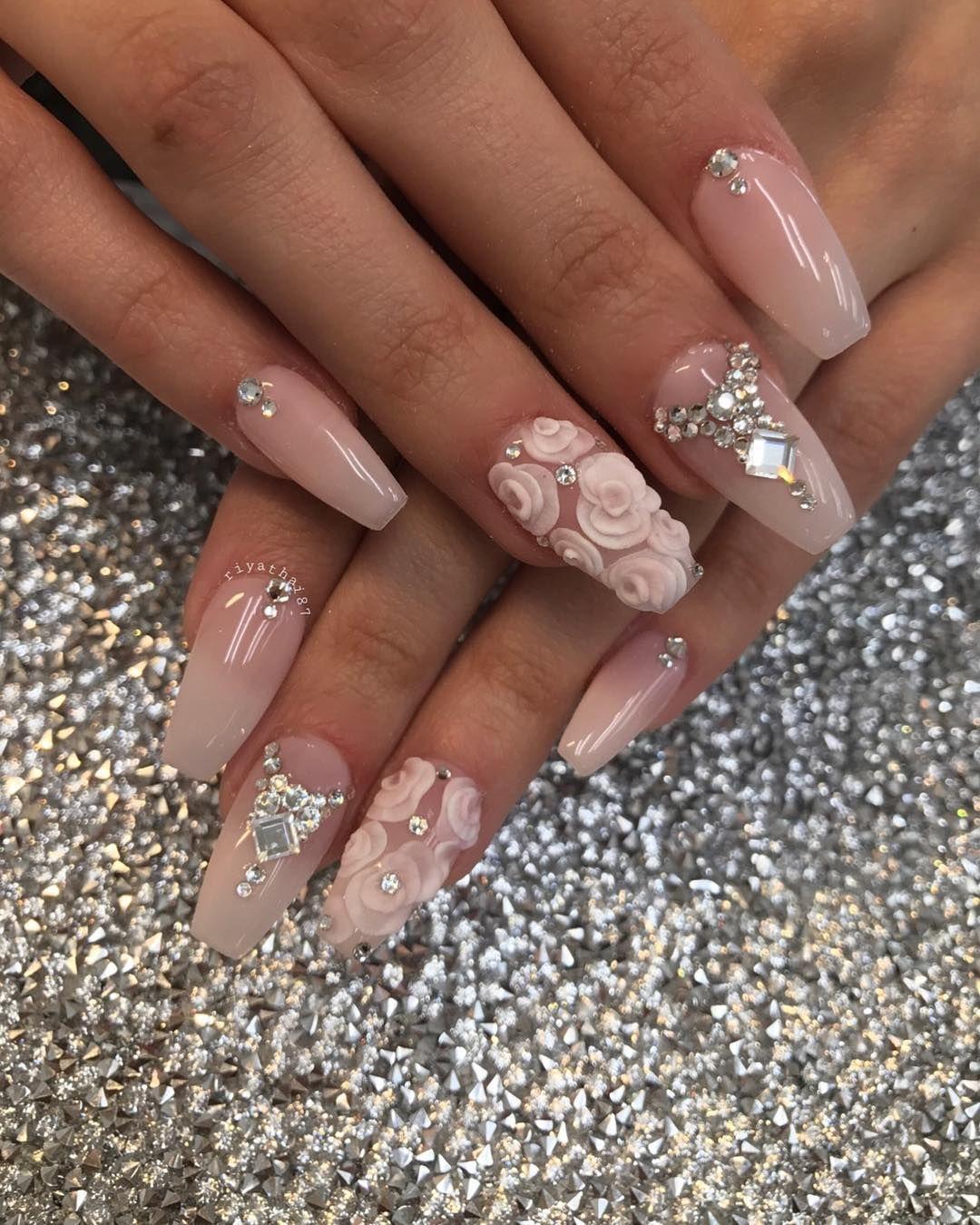 Nails #NailArt via - Riya\'s Nails Salon (@riyathai87) on Instagram ...