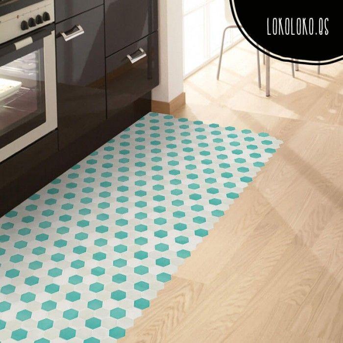 Vinilo adhesivo para la decoraci n del suelo de la cocina for Parquet vinilo adhesivo