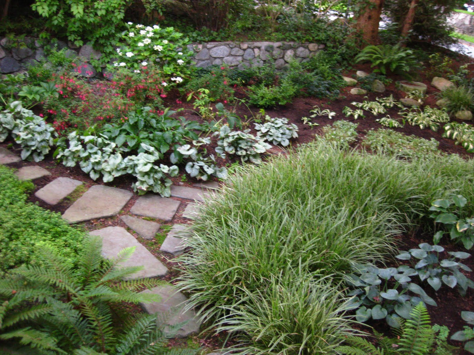 Shady landscape ideas corner garden ideas gardening for Small corner garden designs
