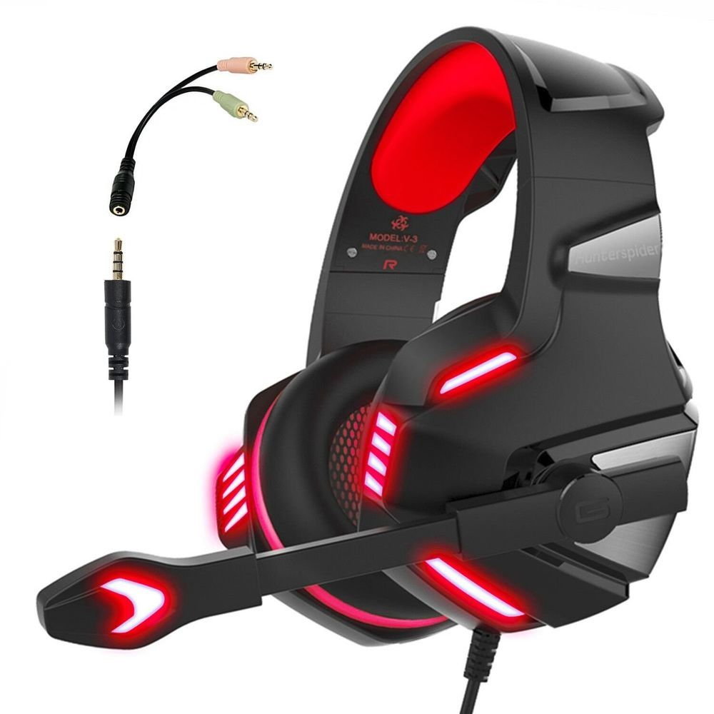 Gaming Headset for PS4 Xbox One, Micolindun Over Ear Gaming ...