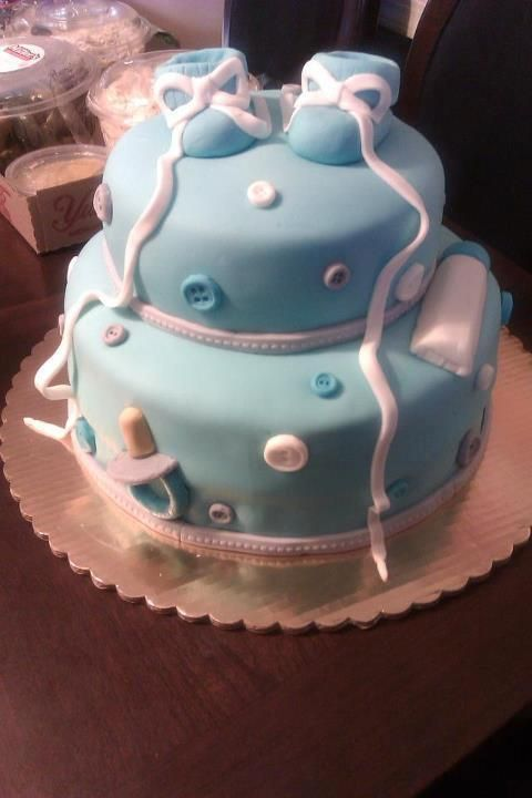Amazing Cute Baby Boy Shower Cake