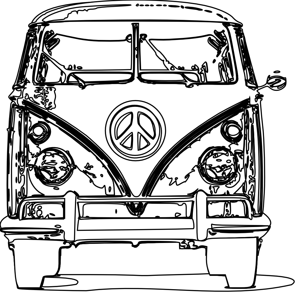 Vw Bus Coloring Page Coloring Pages Black And White Lines Free Clip Art