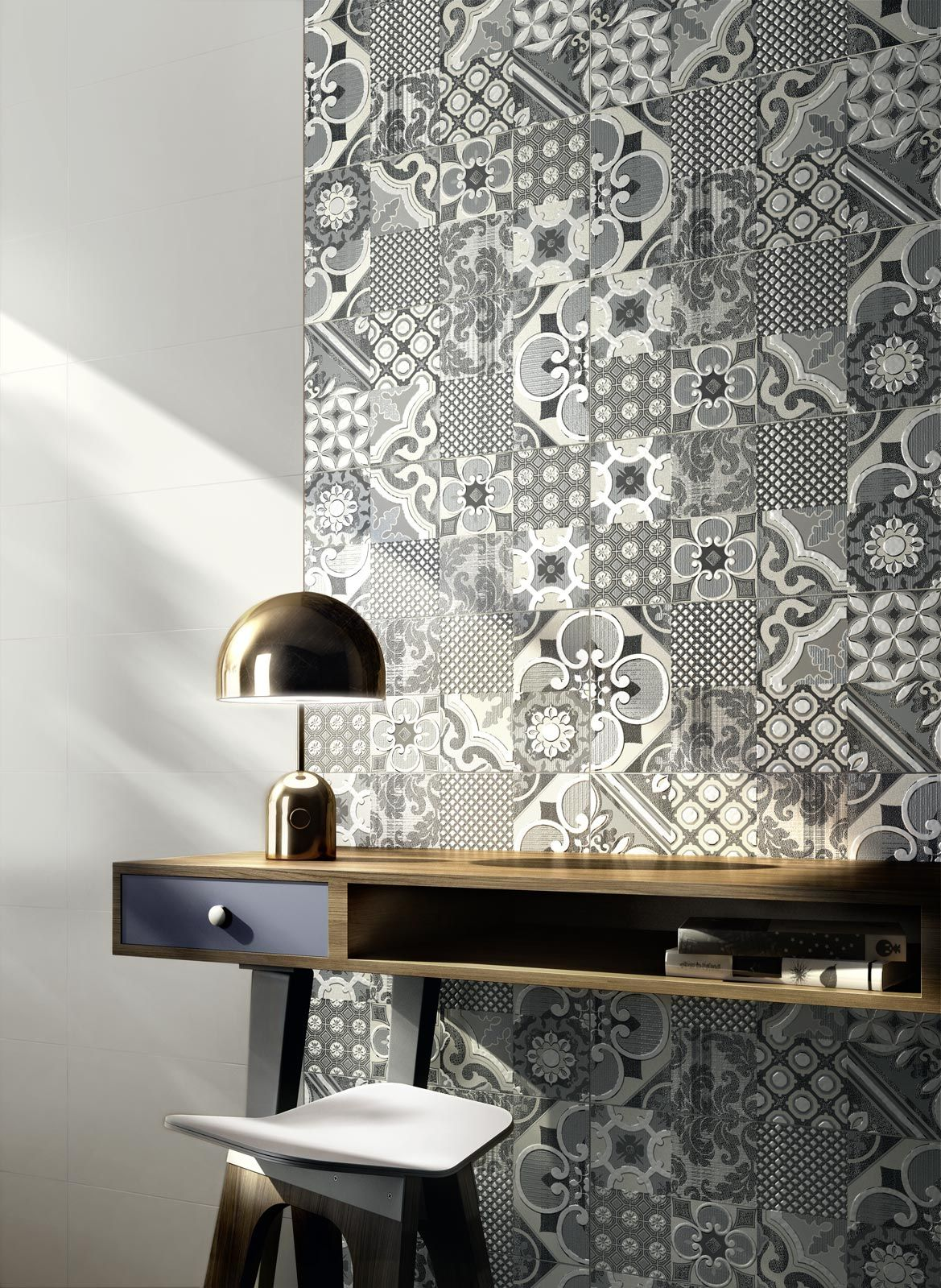30 Exquisite And Inspired Bathrooms With Stone Walls: Fantasy Collection: White Bathroom Wall Tiles
