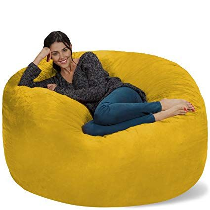 chill sack bean bag chair giant 5 memory foam furniture bean bag rh pinterest ca