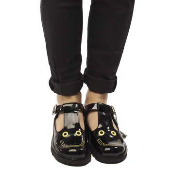 separation shoes 71c1a c05b5 Women's Black Kickers Kick Smiley Patent at schuh Georgie ...