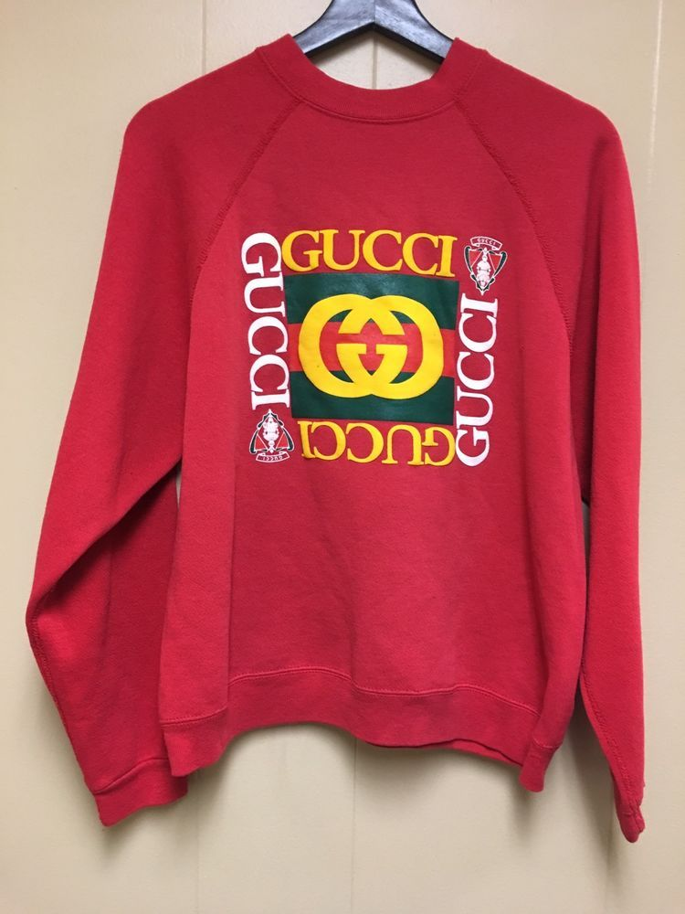 bb586b40d42 VTG Bootleg Gucci Logo Print Raised Design
