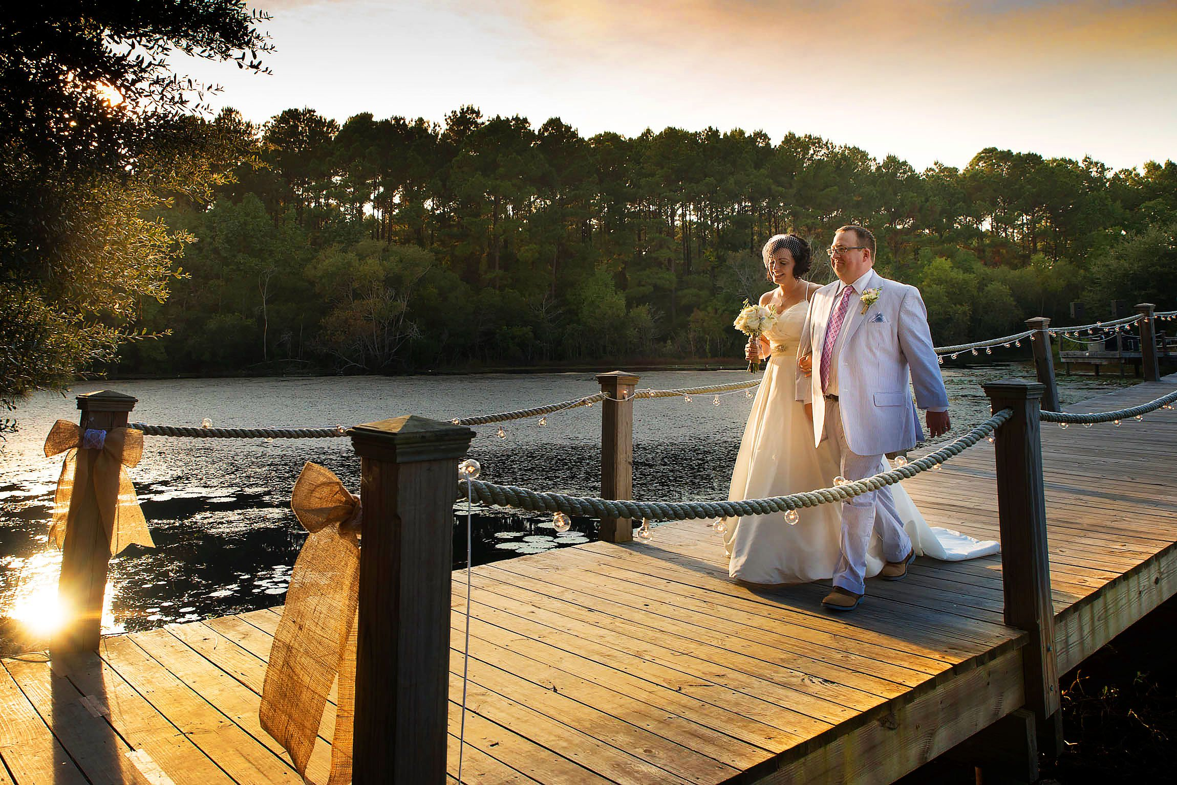 walking the plank wedding photography in Charleston by