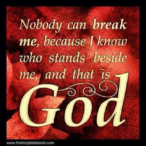 I know who stands beside me: God