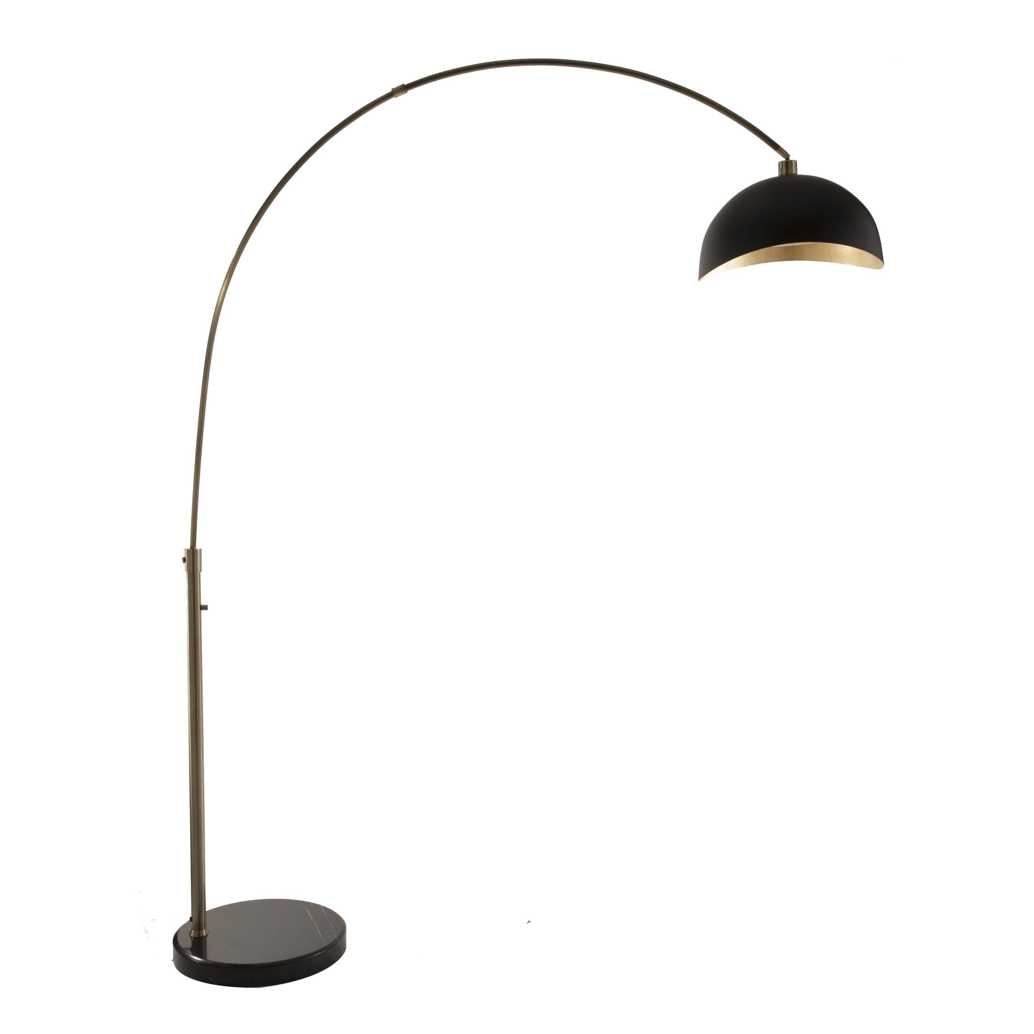 Nova Lighting Luna Bella Black/Gold Steel Arc Lamp | Overstock.com Shopping    The Best Deals On Floor Lamps