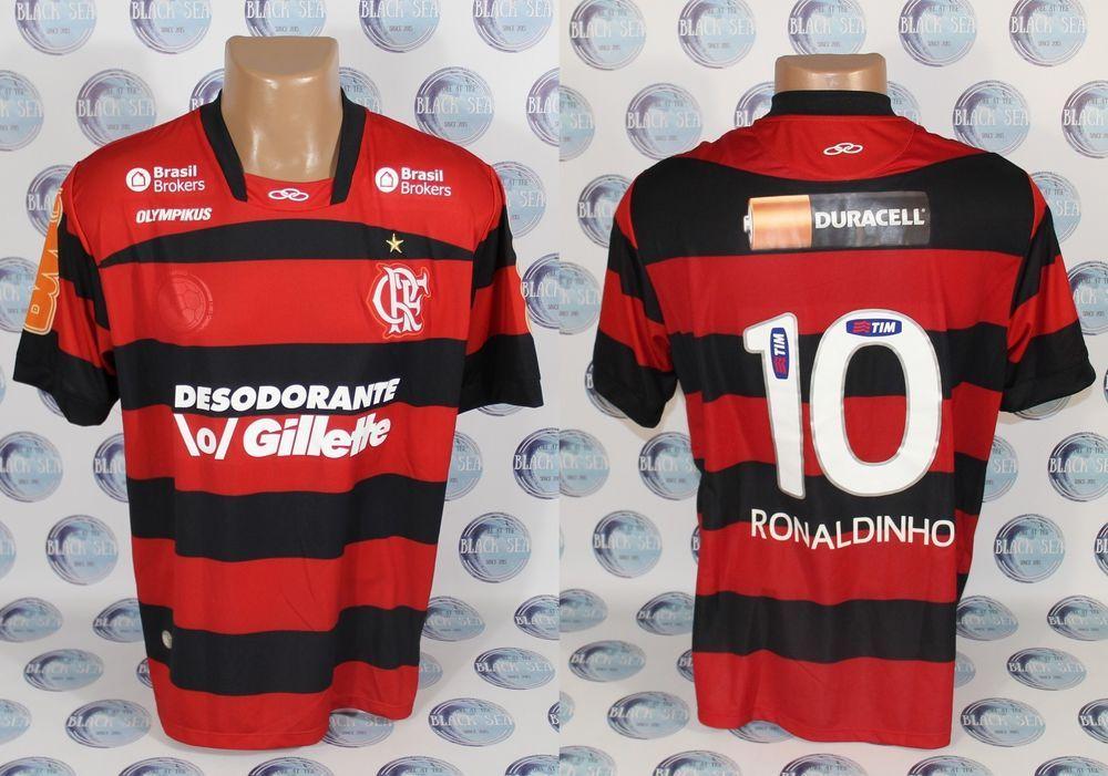 6c095f11f8df3 FLAMENGO  10 RONALDINHO FOOTBALL SOCCER SHIRT JERSEY CAMISETA DRY ACTION L   OLYMPIKUS  Flamengo