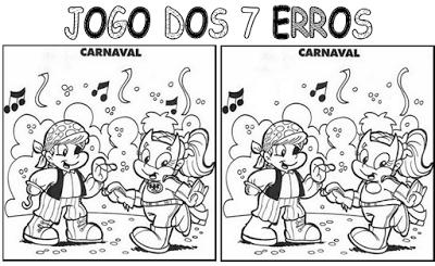 ATIVIDADES PARA EDUCADORES: Jogo dos 7 Erros - CARNAVAL