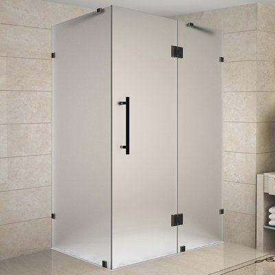 Aston Avalux Rectangle Hinged Shower Enclosure Frameless Shower