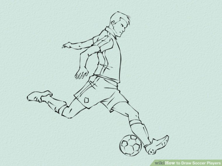 How To Draw Soccer Players Soccer Drawing Soccer Players Soccer Art