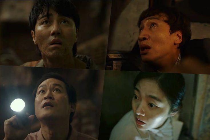 Watch: Cha Seung Won, Lee Kwang Soo, Kim Sung Kyun, And Kim Hye Joon Look Up In Disbelief In New Disaster Film Trailer