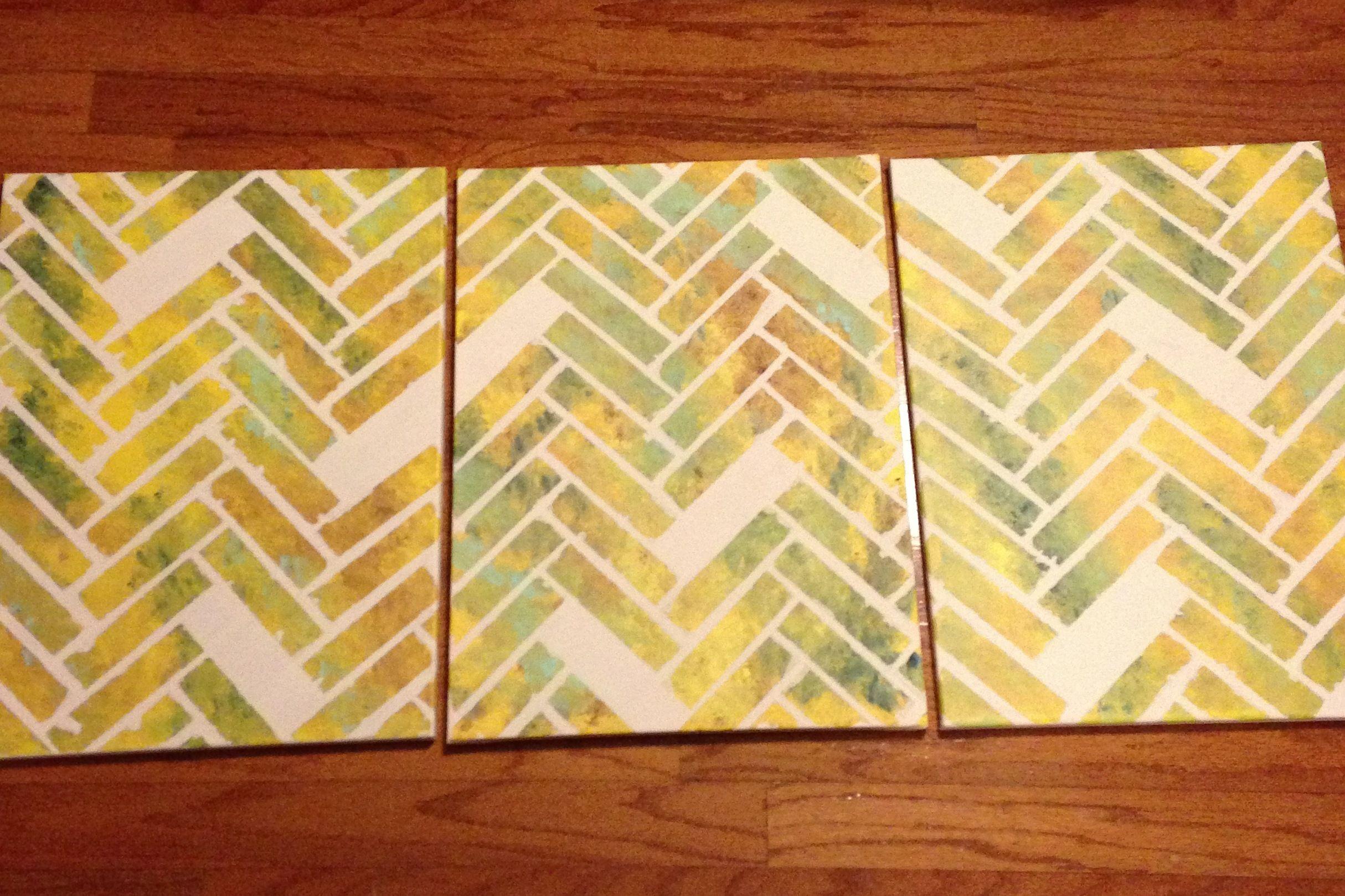 Herringbone pattern wall art! | Craft // DIY | Pinterest ...