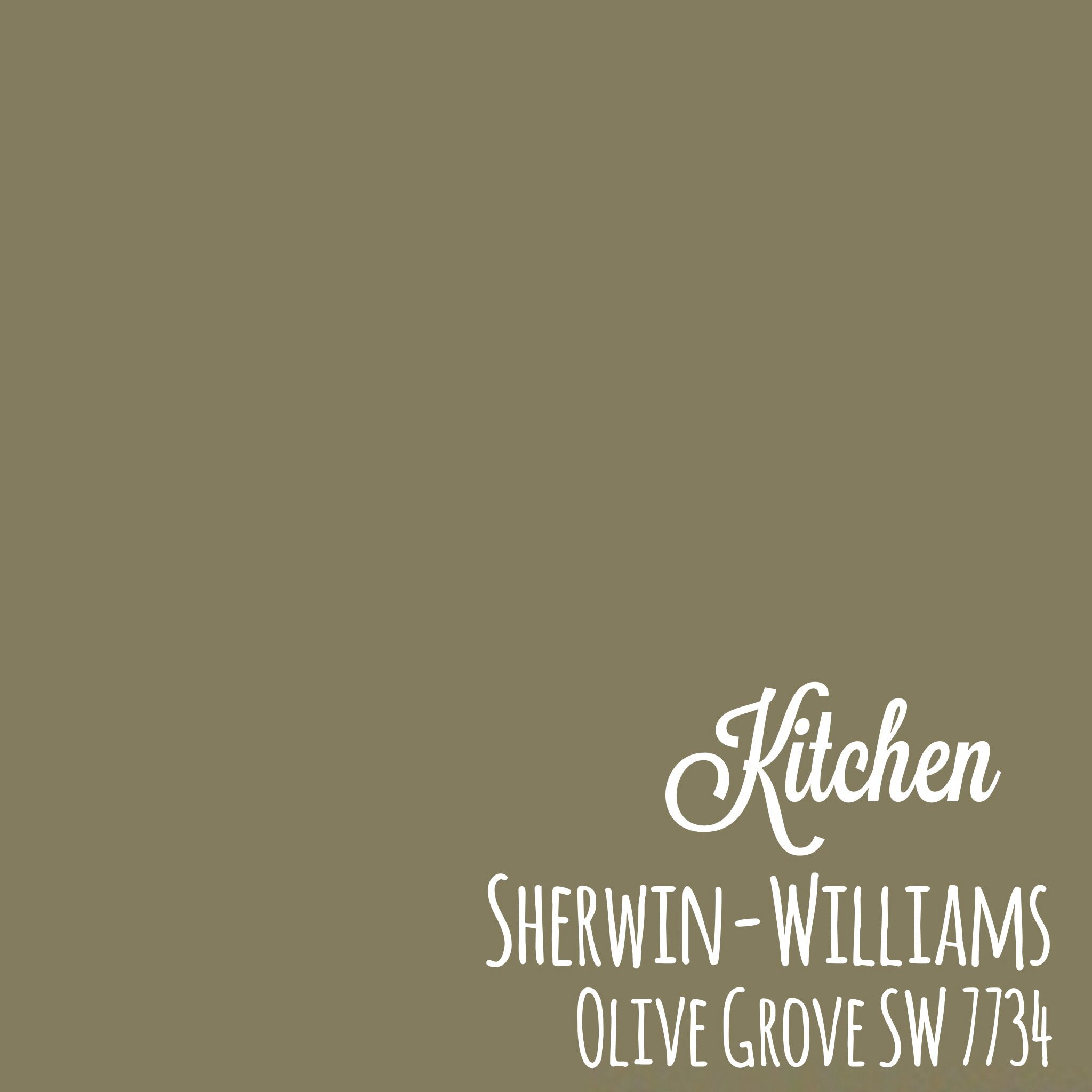 Sherwin Williams Olive Grove SW 7734 Kitchen | Holding Place | Pinterest