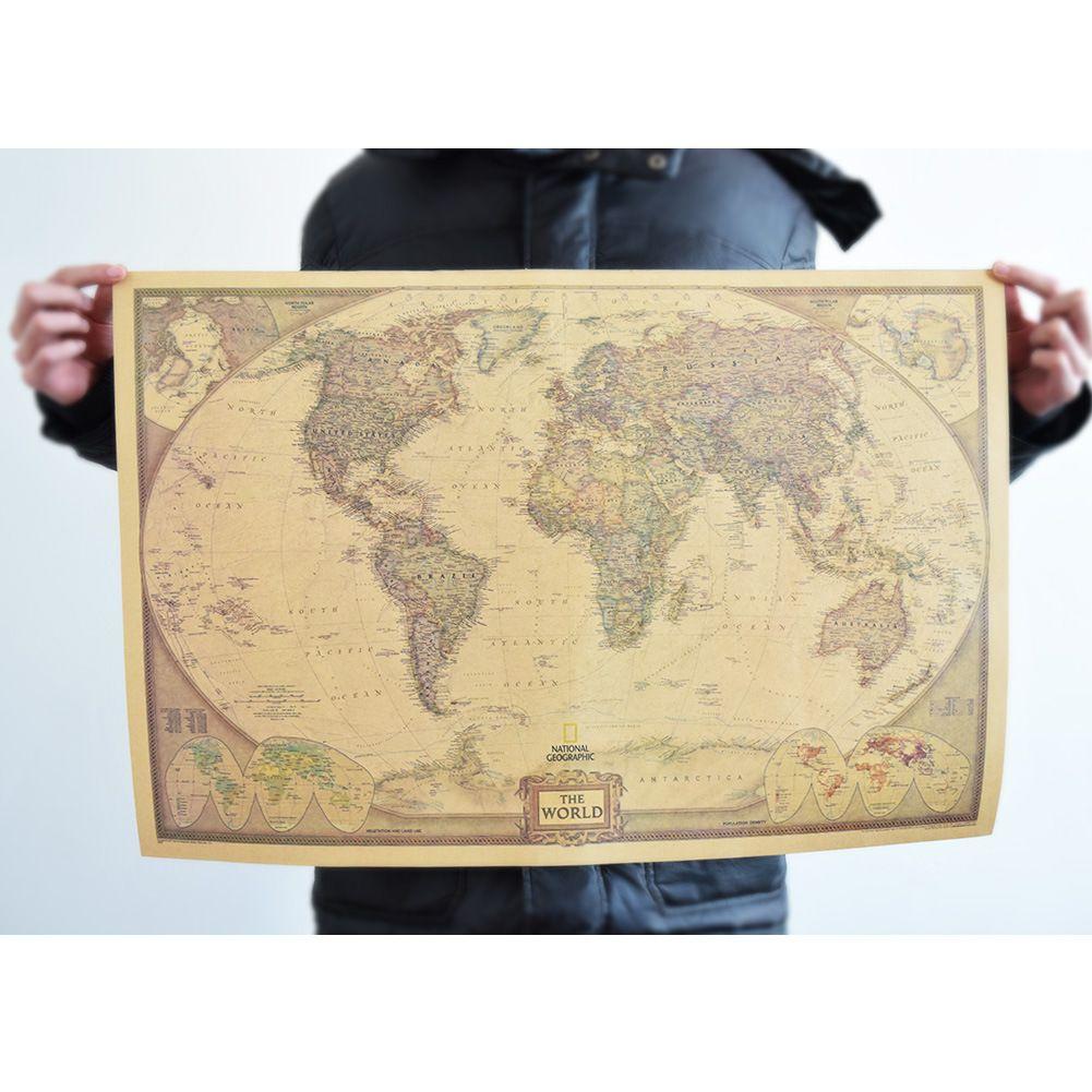 Vintage Posters BAR PUB World Maps HOME WALL DECORation Worldmap ...