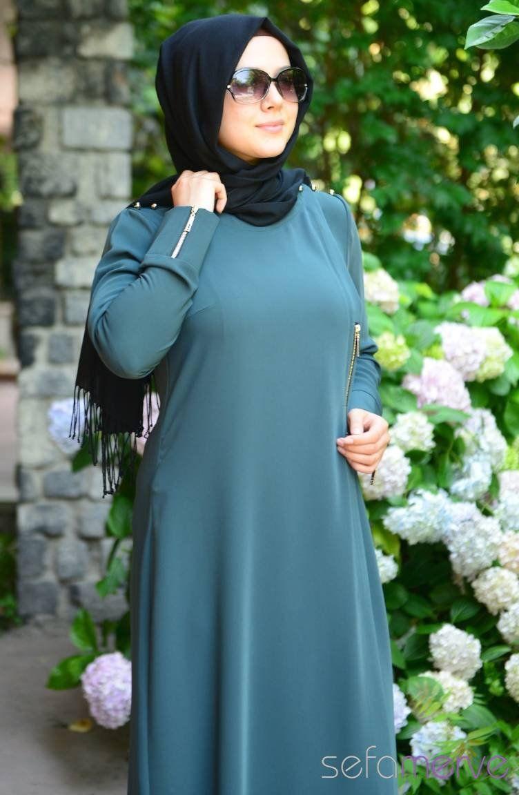 bec9c598494c6 Şükran Ferace Yeni Sezon 35456-01 Yeşil | kapalı | Hijab fashion ...