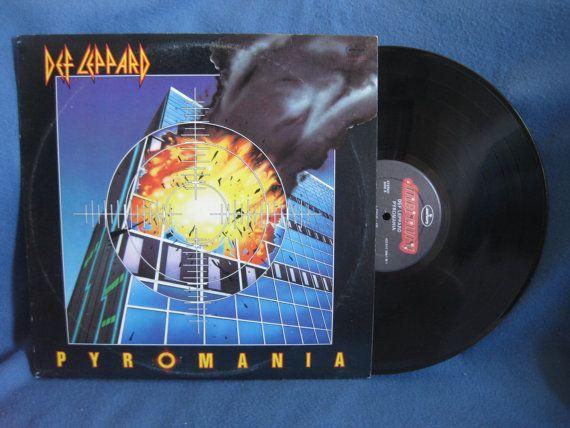 Vintage Def Leppard Pyromania Vinyl Lp Record By