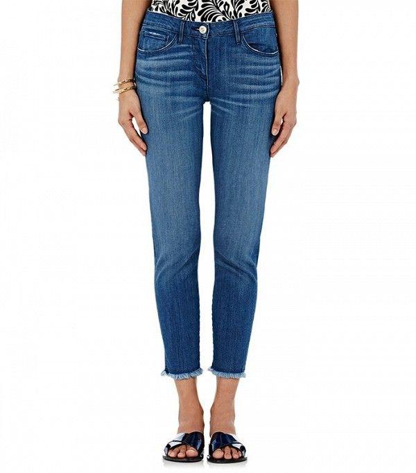 3x1 Distressed Crop Skinny Jeans