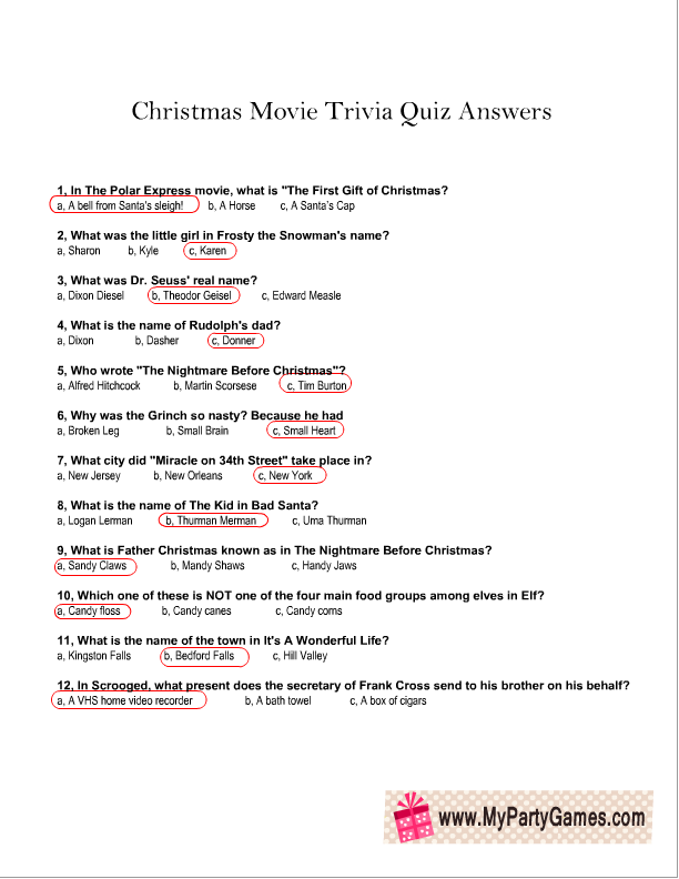 Christmas Movie Trivia Quiz Answer Sheet Png 612 792 Christmas Movie Trivia Christmas Trivia Christmas Trivia Questions