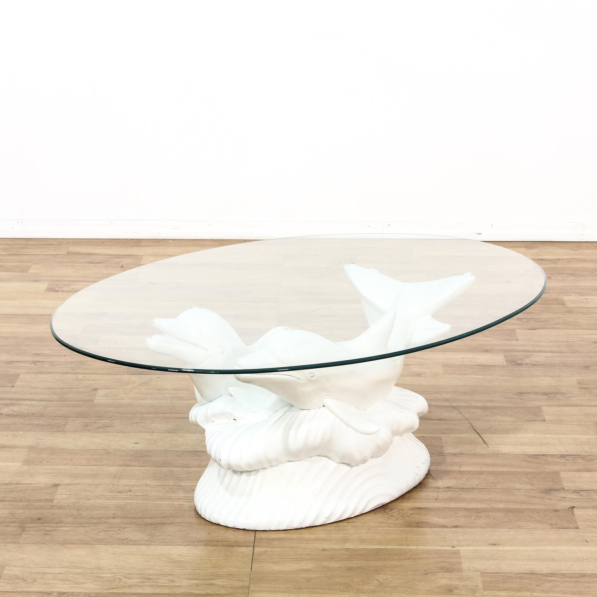 This Coffee Table Features A Plaster Style Base With A Fresh White Finish This Coastal Coffee Table Has A Curved Oval Glass Coffee Table Glass Top Table Table [ 2000 x 2000 Pixel ]