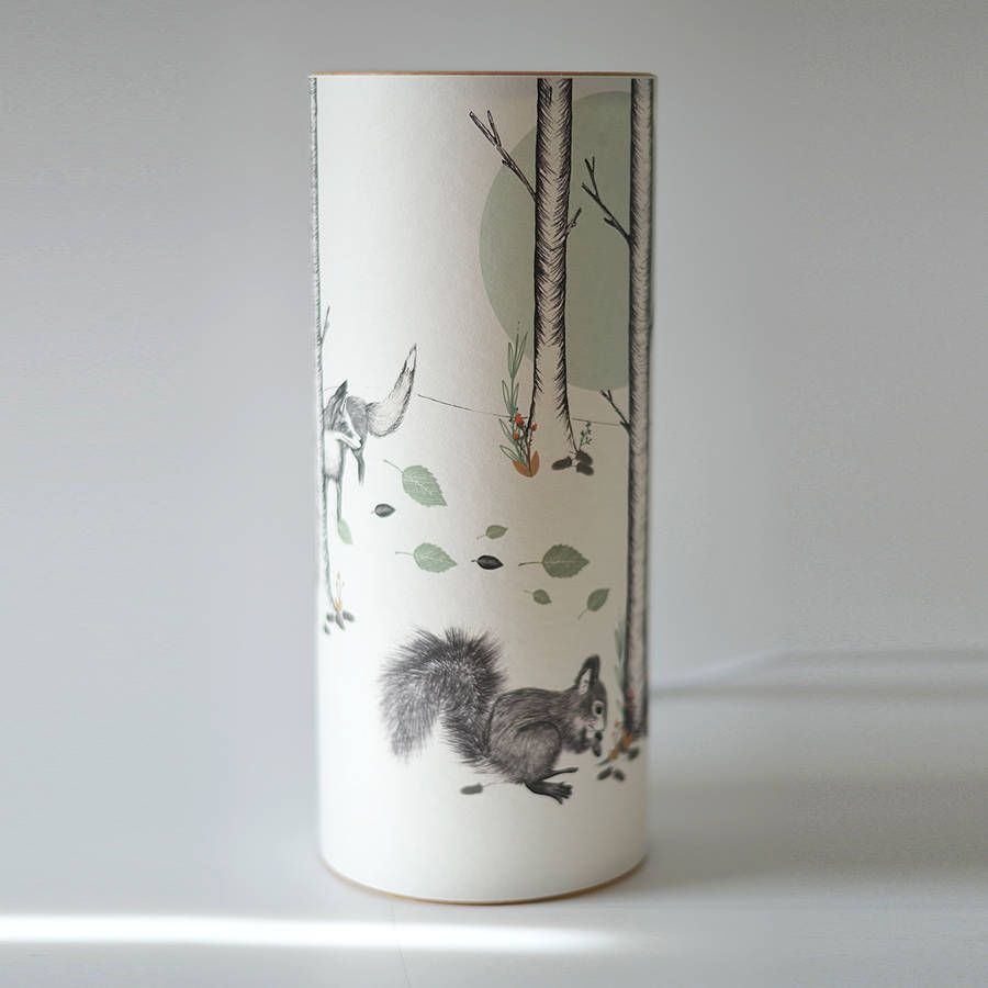 Woodland illustrated handmade lamp by a northern light woodland illustrated handmade lamp by a northern light notonthehighstreet geotapseo Gallery