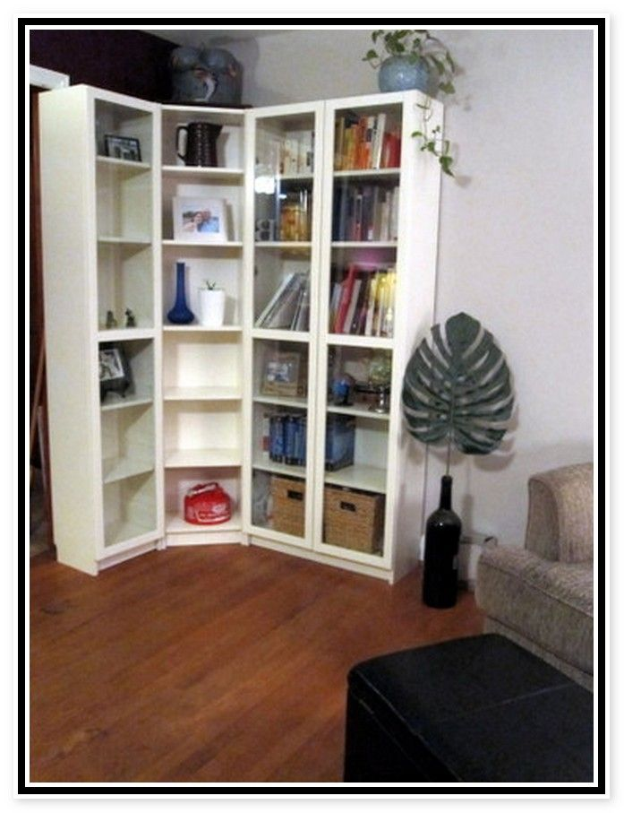 Ikea Corner Bookcase Billy Zimmerdekoration B 252 Cherregal Ideen Zuhause