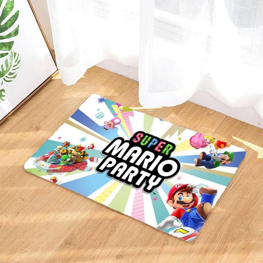 Super Mario Party Logo Fussmatte Badematte Rutschfest Und Waschbar Badezimmer Teppich Super Mario Party Party Logo Mario Party
