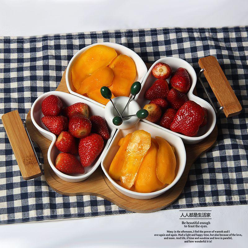 European Luxury Retro-style Fruit Bowl Plates Snack Storage Box Crafts Ornament