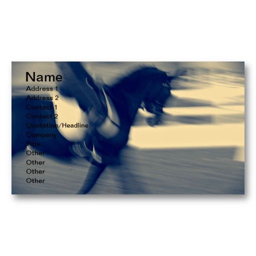 Abstract Dressage Business Card