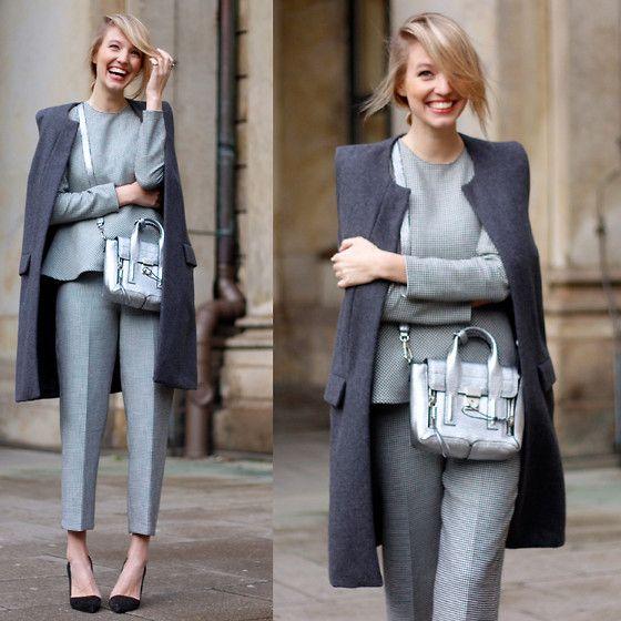 Zara Wide Pants, Zara Blouse, Zara Heels, Reserved Waistcoat, 3.1 Phillip Lim Bag
