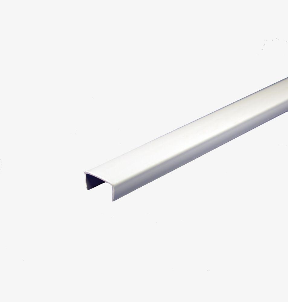Pvc Shelf Edging White 5 8 In X 8 Ft Shelves Home Depot Pvc