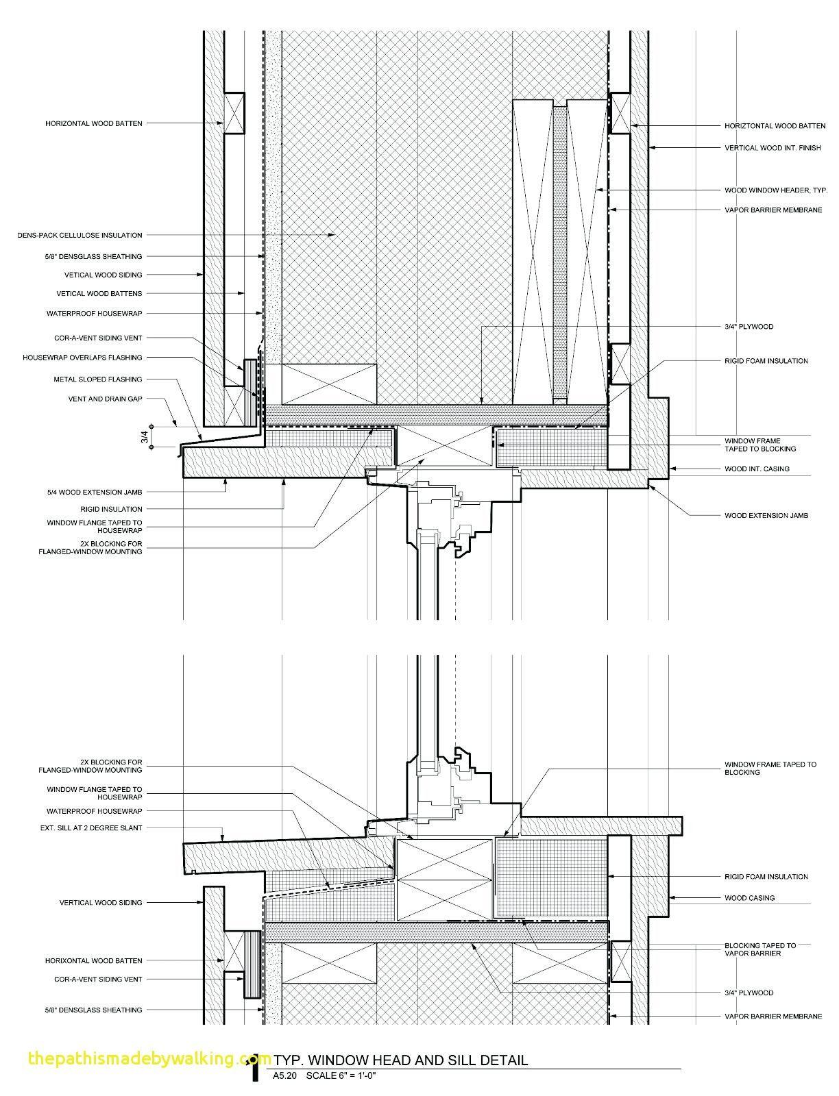 Aluminium Casement Windows Details Lovely Awning Window Detail Full Detail Window Window Head And Sill Passive House Design Architecture Details Fenestration