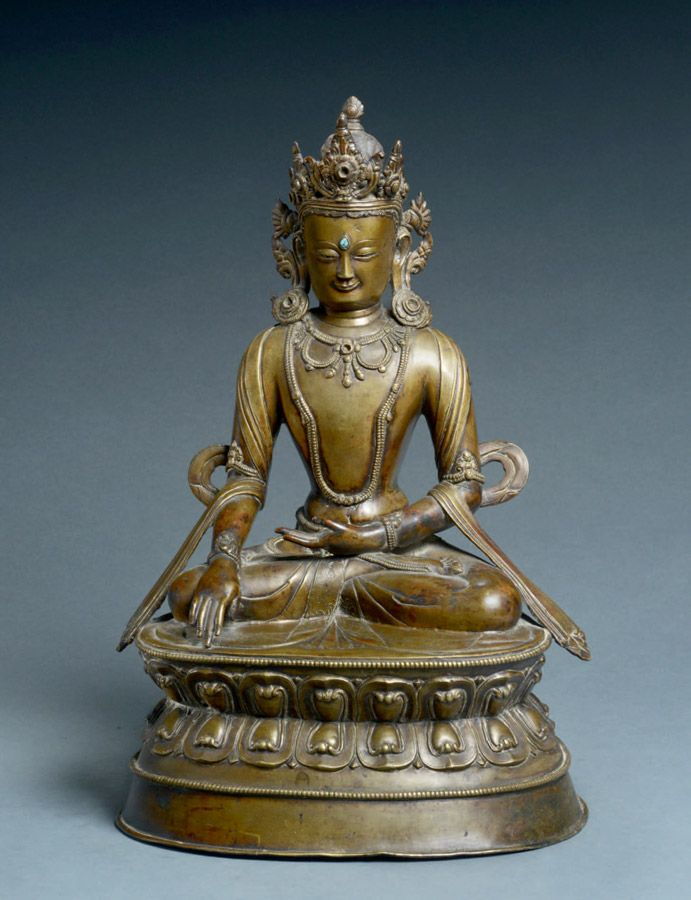 Tibet Tibetan Buddhism handmade old Budda statue alloy gilt White Tara