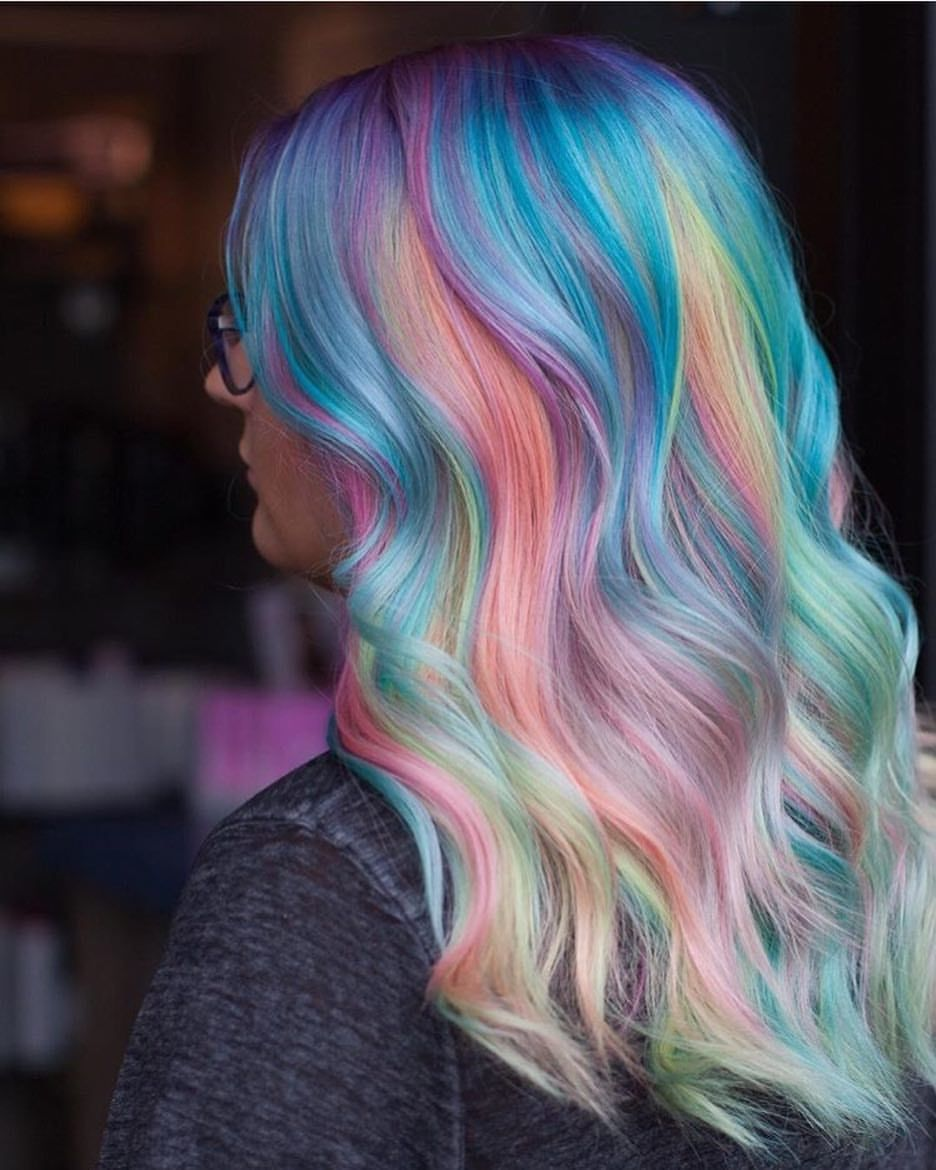 111 Likes 9 Comments Tattoos And Pastel Tattoosandpastel On Instagram Pastel Rainbow By Hair Styles Mermaid Hair Color Rainbow Hair Color