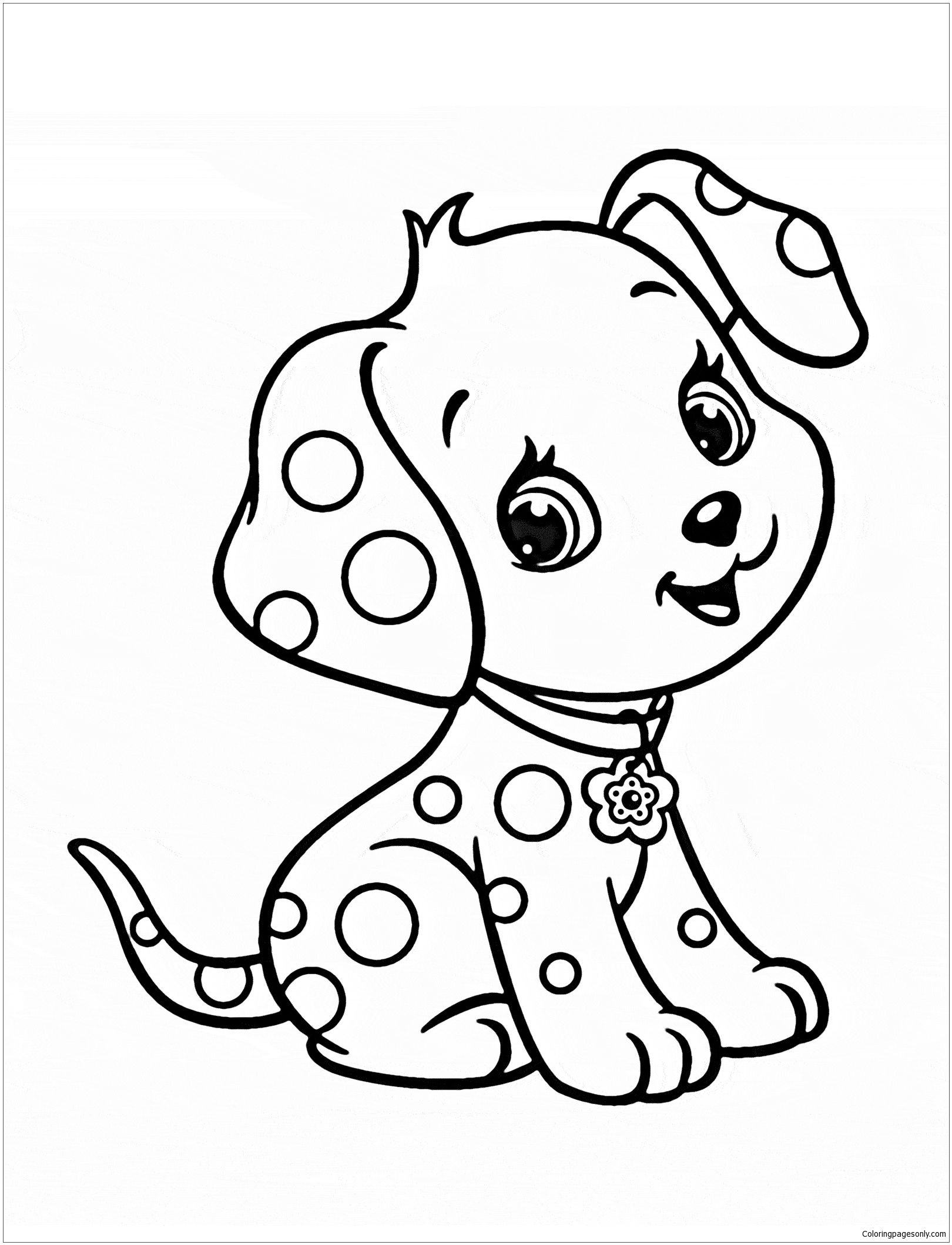 Cute Puppy 5 Coloring Page Puppy coloring pages, Dog