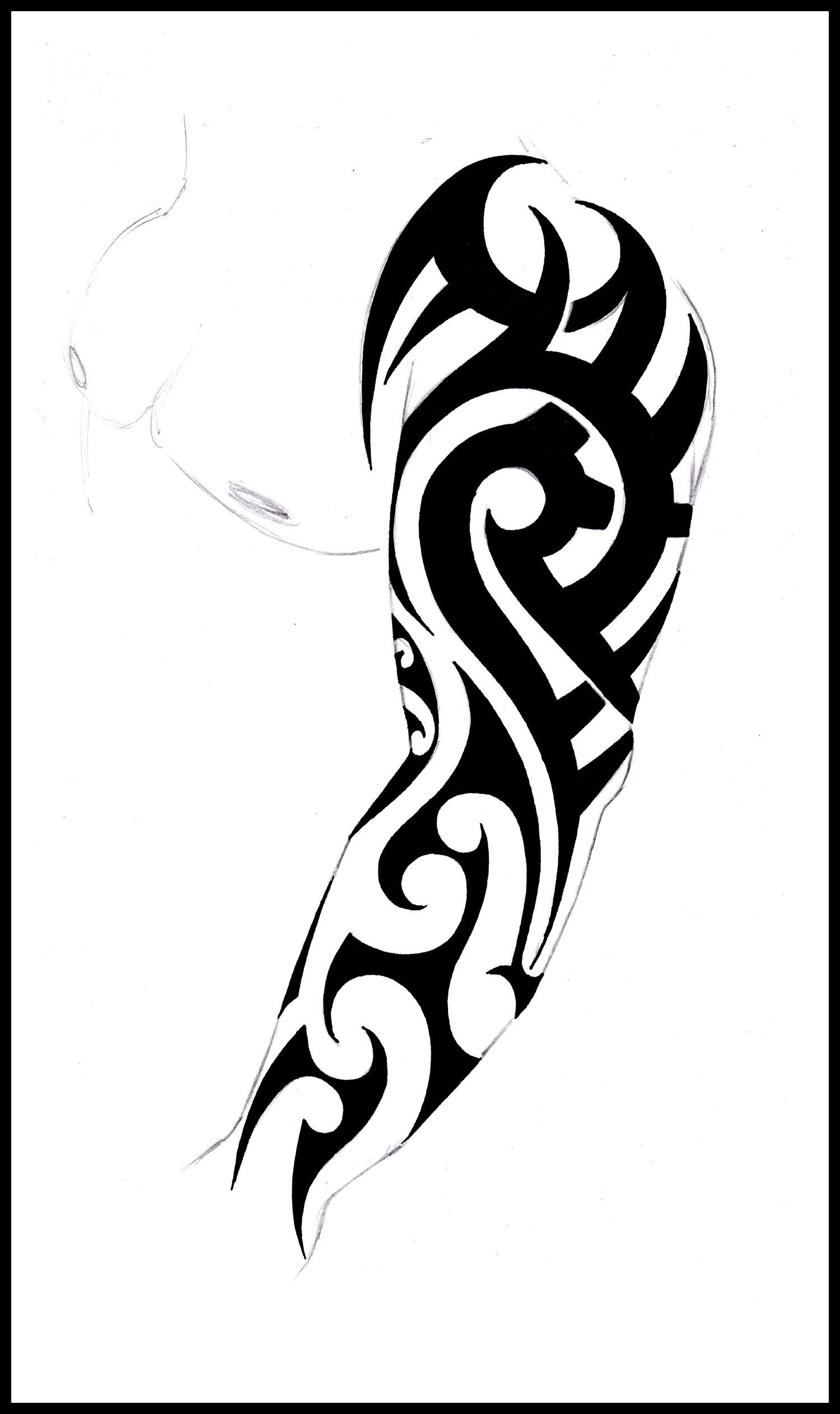 Tribal Sleeve Tattoo Stencil Tribal Full Sleeve Design ...