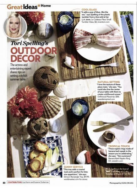 Tori Spelling's Tablescape in People Magazine