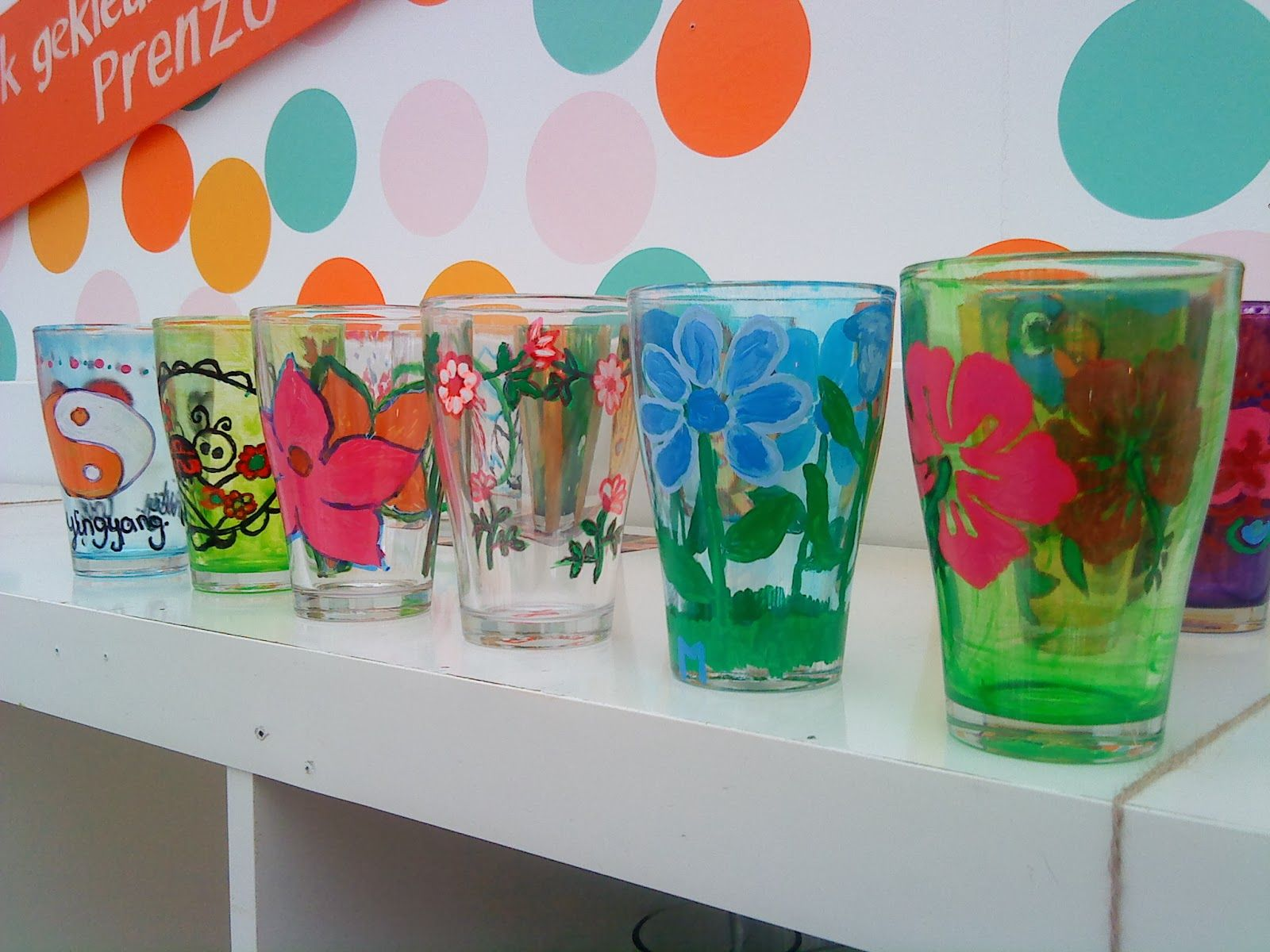 Prenzo- glas beschilderen met stiften