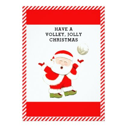 Volleyball Christmas Cards Zazzle Com Family Christmas Cards Holiday Design Card Christmas Cards