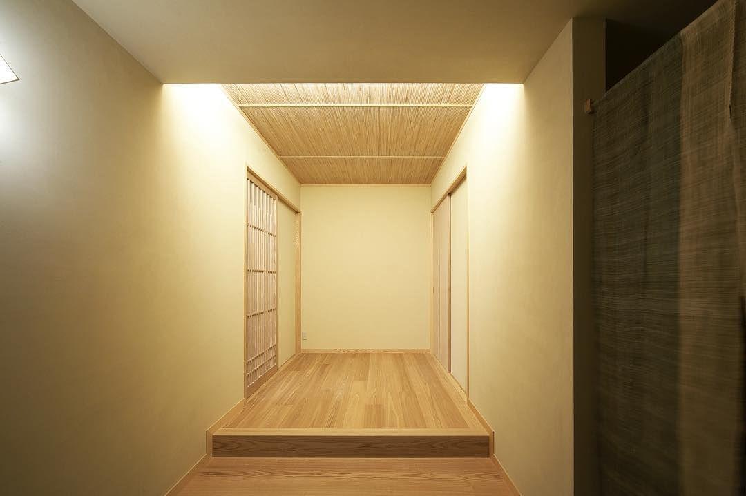 Minimaru Design On Instagram 和風の玄関ホール 照明の陰影や天井