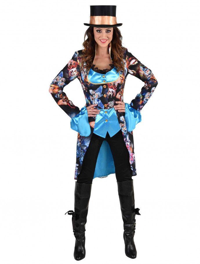 Frack Black Butterfly Damen für Karneval & Fasching