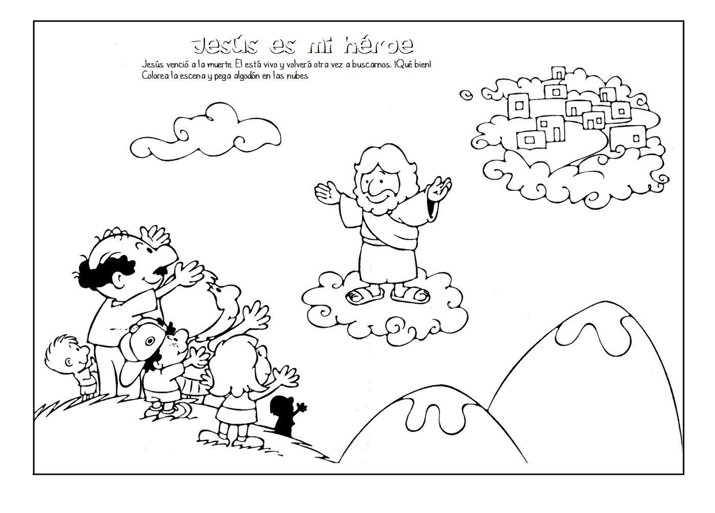 ME ABURRE LA RELIGIÓN: PASCUA. COLOREAR | 耶稣受洗升天 | Pinterest ...