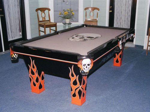 Skull Pool Table Felt | pool Table Designs | Pinterest | Pool table ...