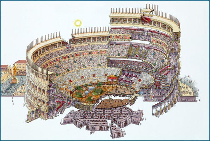 Stephen Biesty - Illustrator - Exploded Views - Colosseum