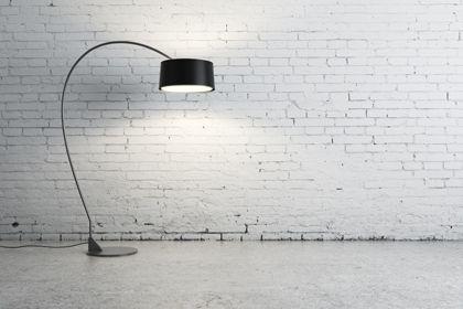 Brick Wall With Lamp Lampu Lantai Lampu Batu Bata
