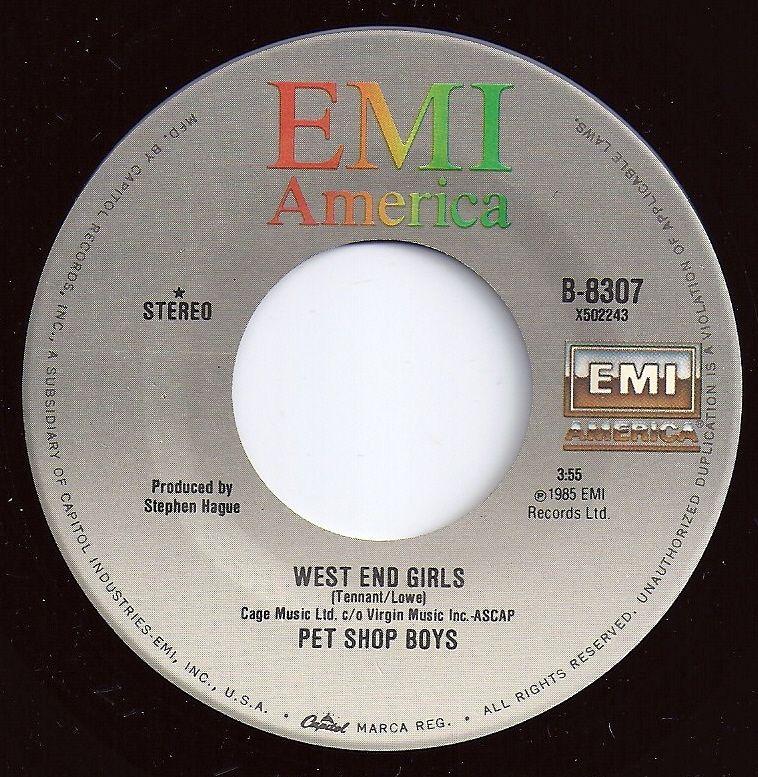 1 On Billboard West End Girls Pet Shop Boys With Images